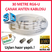 30 Metre Fullhd 3d 4k Uydu Çanak Anten Kablosu...