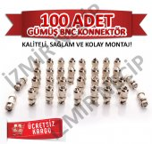 100 LÜK PAKET BNC KONNEKTÖR KALİTE ARAYANLARA KOLAY MONTAJ A++