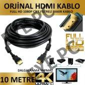 10 Metre Hdmı Mönitör Tv Pc Görüntü Kablosu