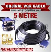 5 Metre Vga To Vga Erkek Erkek Kablo Kaliteli...
