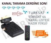 Türksat 4a Hazır Yüklü Sıralı Böcek Mini Uydu Alıcısı