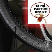 Fiat 500 Siyah Soft Deri Direksiyon Kılıfı Siyah İplikli