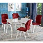 Soho Beyaz Ahşap Masa Sandalye Takımı