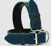 Doggie Confort Deri Boyun Tasma Mavi 1.5x30cm