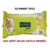 KOMİLİ SOFT ISLAK BEBEK HAVLU MENDİL HASSAS SENSITIVE 70x12