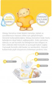 SLEEPY SENSITIVE HASSAS CİLT BEBEK ISLAK HAVLU MENDİL 90 x6-2