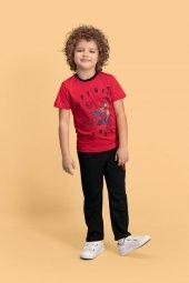 Spider Man Lisanslı Kırmızı Erkek Çocuk Pijama Takımı D4139 C V1