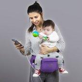 My Valice Carry Bel Destekli Ana Kucağı Bebek Taşıyıcı Kanguru Mor