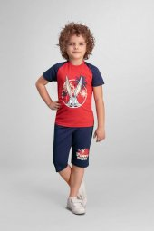 Bugs Bunny Lisanslı Kırmızı Erkek Çocuk Kapri Takım L9909 C V1