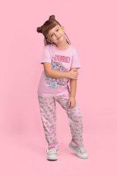 Karlar Ülkesi Elsa Frozen Lisanslı Pembe Kız Çocuk Pijama Takımı D4130 C V1