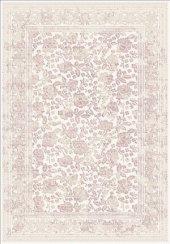 Pudra Renk Çiçek Desenli Bordürlü Salon Halısı - HS97054T