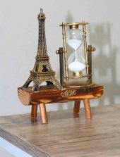 Eyfel Kulesi Yanında Dekoratif Kum Saati Ahşap