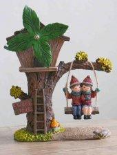 Sevgiliye Özel Hediye Müzikli Ağaç Ev Biblo