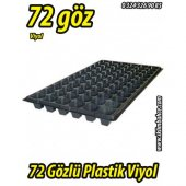 72 Gözlü Plastik Kare Tohum Fide Viyolü X 5...