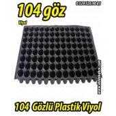 104 Gözlü Plastik Yuvarlak Tohum Fide Viyolü X...