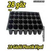 28 Gözlü Plastik Yuvarlak Tohum Fide Viyolü