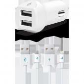 Ttec Lightning (Iphone) Ve Micro Usb 3.1a Çift Girişli Araç Şarj