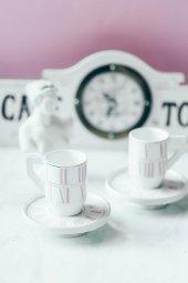 Pembe 2li Alice İn Wonderland Kahve Takımı