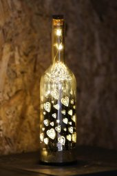 Dekoratif Altın Renkli Kalpli Led Lamba