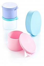 Koyu Mavi Rengi 4lü Plastik Yemek Saklama Kutusu-2