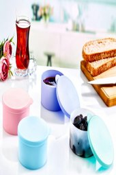 Koyu Mavi Rengi 4lü Plastik Yemek Saklama Kutusu-3