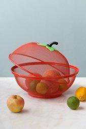 Kırmızı Metal Meyva Ve Çok Amaçlı Sepet