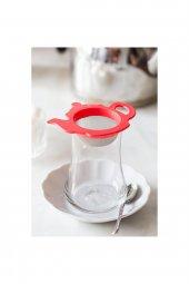 Kırmızı Çaydanlık Şeklinde Çay Süzgeci