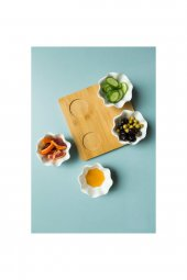 Seramik 4 lü ahşap kahvaltı seti-3
