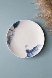Mavi Evli Dağ Figürlü Seramik Tatlı Ve Kahvaltı Tabağı 4 Adet