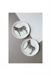 Zebra desenli seramik tatlı-kahvaltılık Tabağı-2
