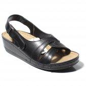 Aryan Kadın Günlük Ortapedik    Siyah Sandalet-2