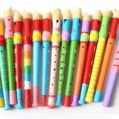 4lü Renkli Ahşap Flüt Paketi