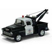 1955 Chevy Srepside Pick Up Çekici Polis Arabası 1 32 Ölçek Diecast