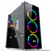 Gametech Spectra 4x120mm Fanlı Tempered Glass...