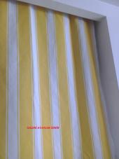 Balkon Perdesi Özel ölçüde Dikiş Yapılır Alt ve Yan Bağcıkları Dikilmiş Hazır (Max.2.70 Yükseklik)-6