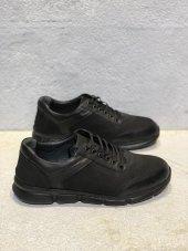 Yeni Sezon Kauçuk Taban Orijinal Hakiki Deri Günlük Rahat Bağcıklı Spor Ayakkabı Kale02 Siyah