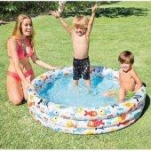 Intex 59431 3 Boğumlu Akvaryum Havuz 132x28cm Şişme Havuz,çocuk Havuzu,bebek Havuzu