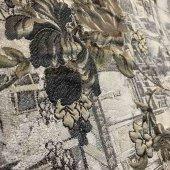 Jakarlı Dolgu Çiçek Desenli (Minumum Sipariş 15 Metre)
