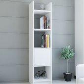 Kitaplık Elips 103 Tekli Beyaz