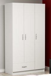 Gardırop Gazz 3 Kapı 1 Çekmece Beyaz