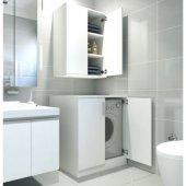 çamaşır Makinesi Dolabı Platin Beyaz