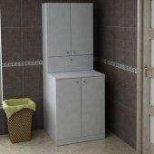 çamaşır Makinesi Dolabı Poyraz Beyaz