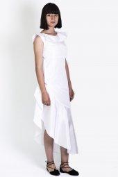 Volan Yakalı Elbise