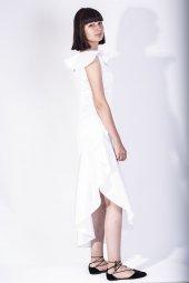 volan yakalı elbise-2