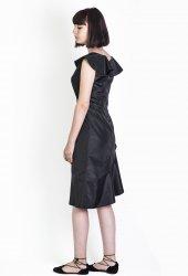volan yakalı elbise-5