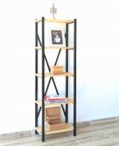 Metal Ahşap Kitaplık Seti Ofis Büro Raf K089