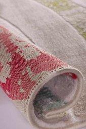 Karışık Renk Kırmızı, Sarı, Yeşil, Vizon Modern Oval Halı - HS931-2