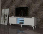 Dmodül Pronto Led Aydınlatmalı Beyaz Tv Ünitesi 150 Cm