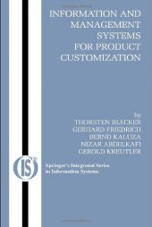 ınformation And Management Systems For Product Customization