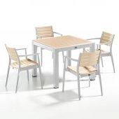 Novussi Regnum Bahçe Seti 4 Sandalye + 1 Camlı Masa Takımı